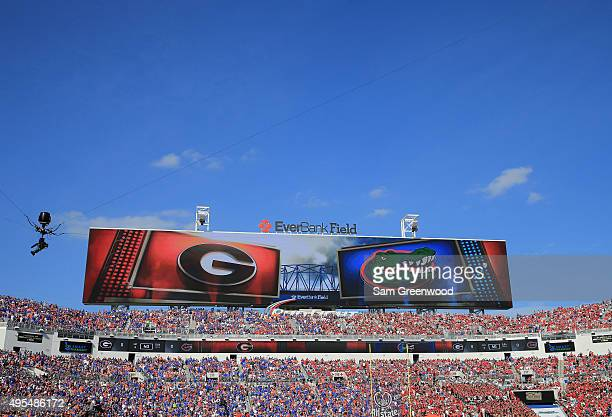A general view during the game between the Florida Gators and the Georgia Bulldogs at EverBank Field on October 31 2015 in Jacksonville Florida