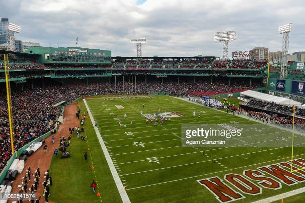 A general view during the game between the Harvard Crimson and the Yale Bulldogs at Fenway Park on November 17 2018 in Boston Massachusetts
