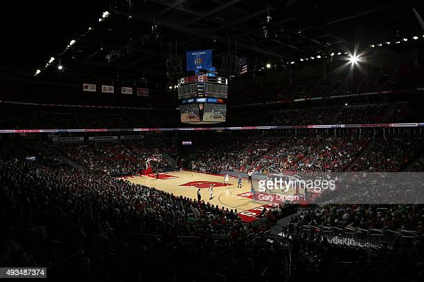 A general view during the game between the Milwaukee Bucks and the Minnesota Timberwolves on October 20 2015 at the Kohl Center in Madison Wisconsin...