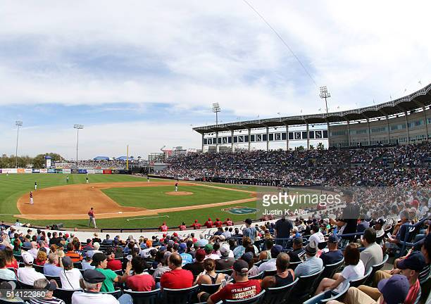 A general view during the game between the New York Yankees and the Boston Red Sox at George M Steinbrenner Field on March 5 2016 in Tampa Florida