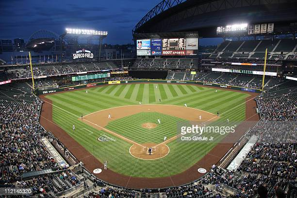 A general view during the game between the Seattle Mariners and the Toronto Blue Jays at Safeco Field on April 12 2011 in Seattle Washington