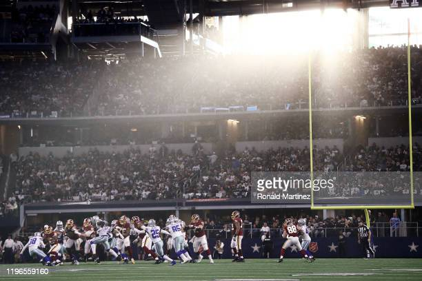 General view during the game between the Washington Redskins and Dallas Cowboys in the game at AT&T Stadium on December 29, 2019 in Arlington, Texas.