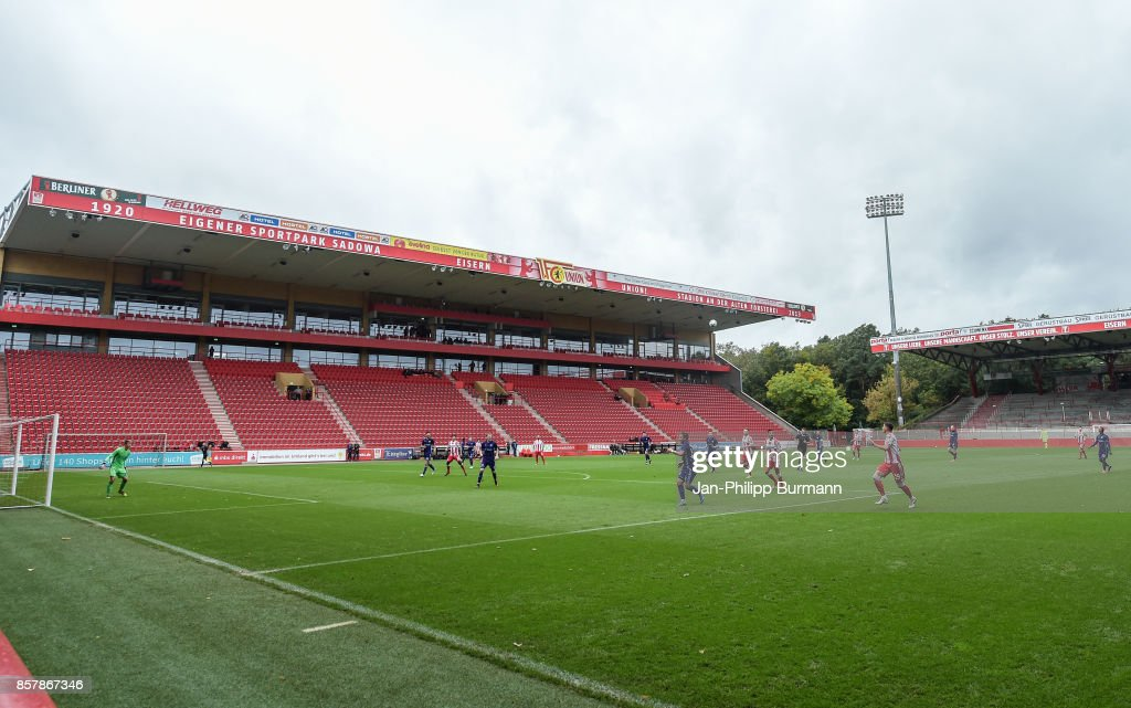 A general view during the game between Union Berlin and FK Dinamo Brest on october 5, 2017 in Berlin, Germany.