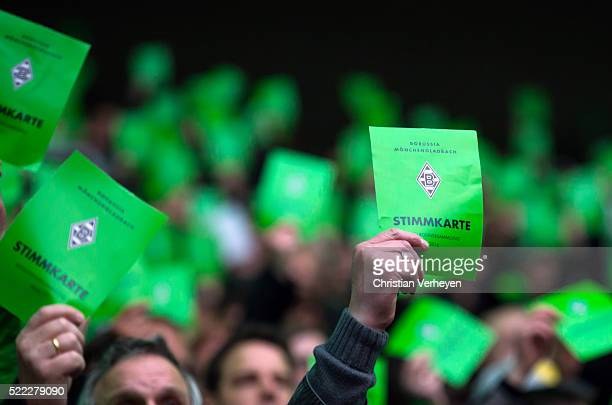 A general view during the General Assembly of Borussia Moenchengladbach at Borussia Park Stadium on April 18 2015 in Moenchengladbach Germany