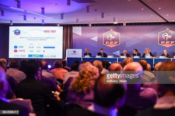 General view during the General Meeting of the French football federation at Hotel Meridien Etoile on March 17 2017 in Paris France
