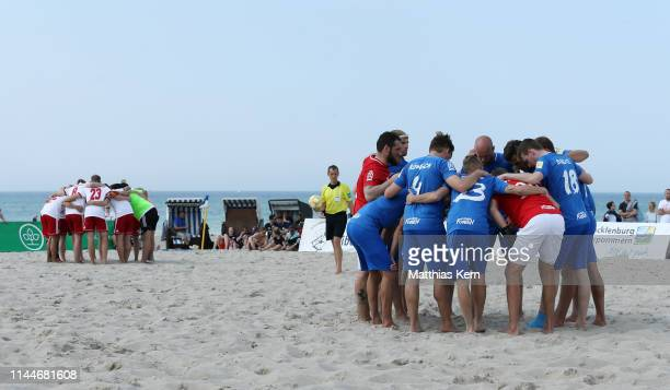 A general view during the German Beachsoccer League on May 18 2019 in Rostock Germany