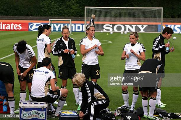 A general view during the Germany Women national team training session at Eisenbrand stadium on June 21 2011 in Duesseldorf/Meerbusch Germany