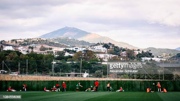 General view during the Germany Women's training session at at Marbella Football Center on January 17, 2019 in Marbella, Spain.