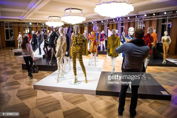 General View during the Gianni Versace Retrospective exhibition at Kronprinzenpalais on February 1 2018 in Berlin Germany The exhibition on the...