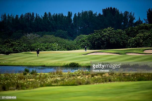 General view during the Golf Tournament Aquece Rio Test Event for the Rio 2016 Olympics at the Olympic Golf Course on March 8 2016 in Rio de Janeiro...
