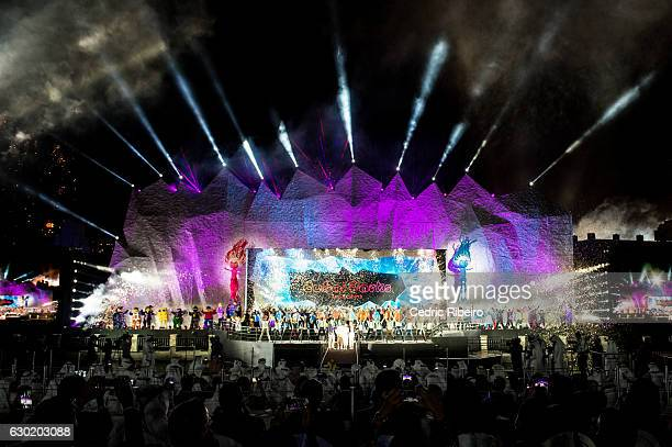 General view during the Grand Opening of Dubai Parks and Resorts on December 18 2016 in Dubai United Arab Emirates Dubai Parks and Resorts features...