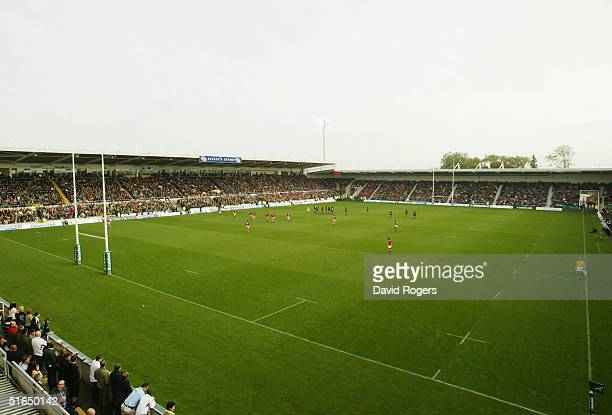 A general view during the Heineken Cup match between Northampton Saints and Llanelli at Franklin's Gardens on October 30 2004 in Northampton England