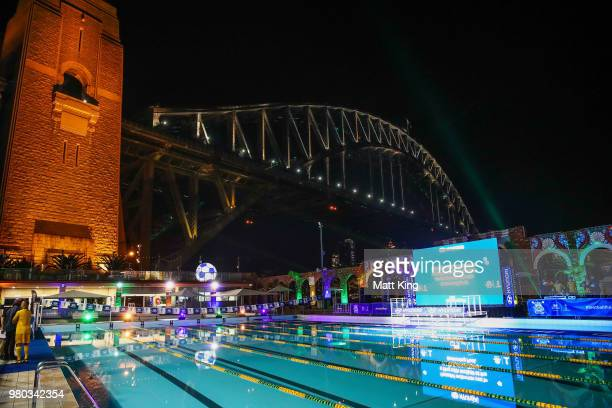 A general view during the Hyundai live screening of the 2018 FIFA World Cup match between Australia and Denmark at North Sydney Pool on June 21 2018...