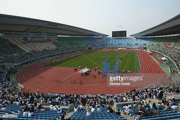 General view during the IAAF Osaka Grand Prix at the Nagai Stadium on May 8, 2004 in Osaka, Japan.