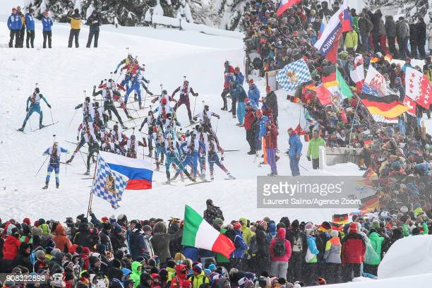 A general view during the IBU Biathlon World Cup Men's and Women's Mass Start on January 21 2018 in AntholzAnterselva Italy