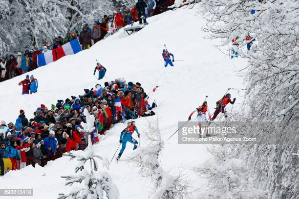 General view during the IBU Biathlon World Cup Men's and Women's Pursuit on December 16, 2017 in Le Grand Bornand, France.