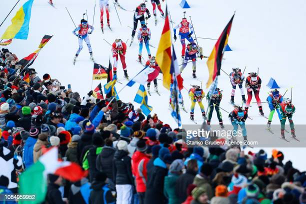 General view during the IBU Biathlon World Cup Women's Relay on January 19, 2019 in Ruhpolding, Germany.