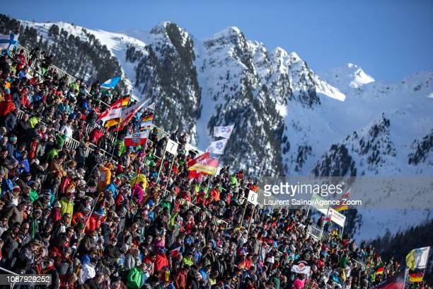 A general view during the IBU Biathlon World Cup Women's Sprint on January 24 2019 in Antholz Anterselva Italy