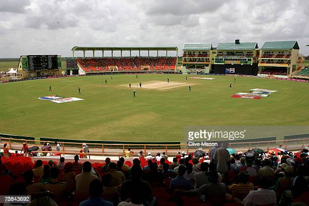 A general view during the ICC Cricket World Cup Super Eights match between Ireland and New Zealand at the Guyana National Stadium on April 9 2007 in...
