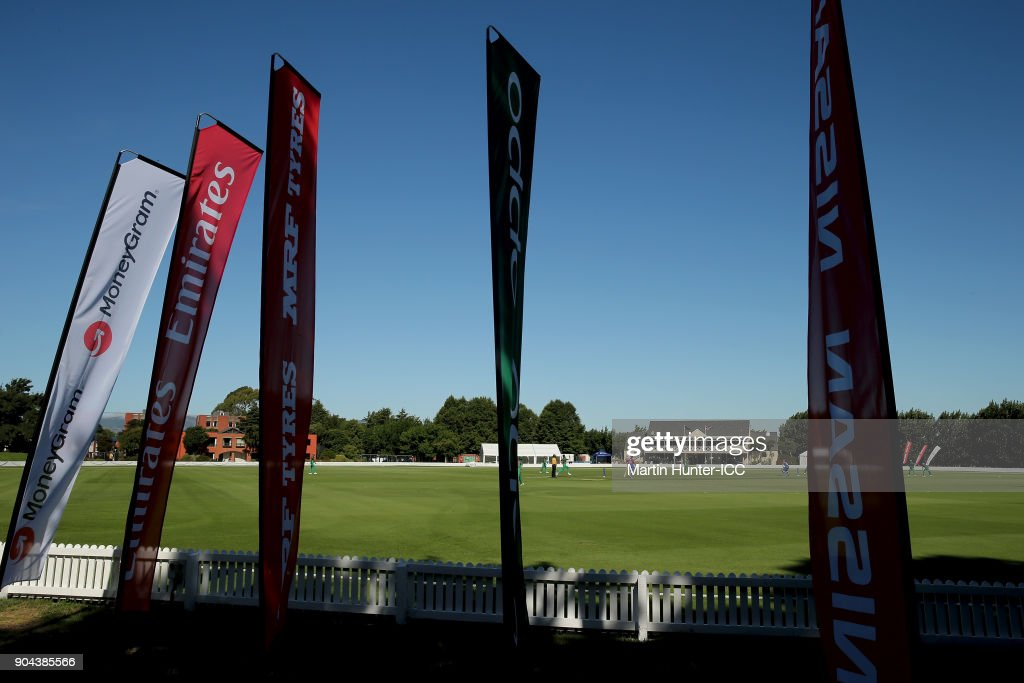 General view during the ICC U19 Cricket World Cup match between Bangladesh and Namibia at Bert Sutcliffe Oval on January 13, 2018 in Christchurch, New Zealand.