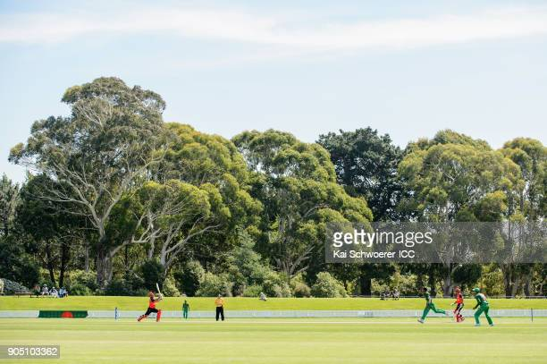 General view during the ICC U19 Cricket World Cup match between Bangladesh and Canada at Bert Sutcliffe Oval on January 15 2018 in Christchurch New...
