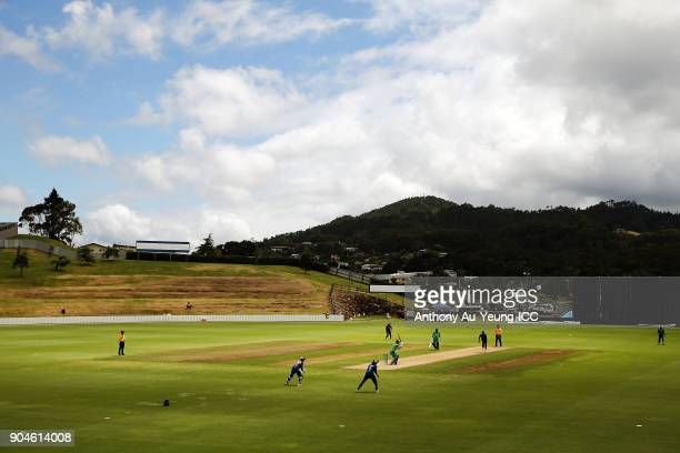 General view during the ICC U19 Cricket World Cup match between Sri Lanka and Ireland at Cobham Oval on January 14 2018 in Whangarei New Zealand