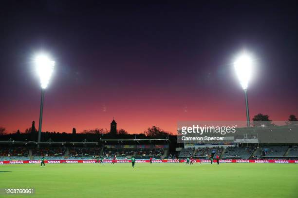 General view during the ICC Women's T20 Cricket World Cup match between the West Indies and Pakistan at Manuka Oval on February 26, 2020 in Canberra,...