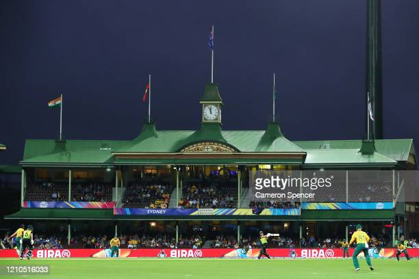 General view during the ICC Women's T20 Cricket World Cup Semi Final match between Australia and South Africa at Sydney Cricket Ground on March 05,...