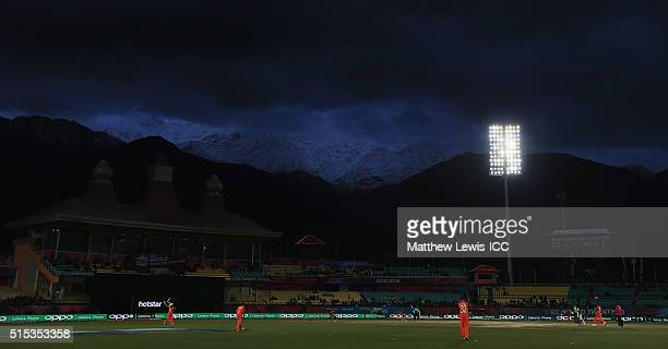 A general view during the ICC World Twenty20 India 2016 match between Netherlands and Ireland at the HPCA Stadium on March 13 2016 in Dharamsala India