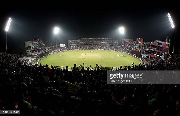 General view during the ICC World Twenty20 India 2016 SemiFinal match between England and New Zealand at The Feroz Shah Kotla Stadium on March 30...