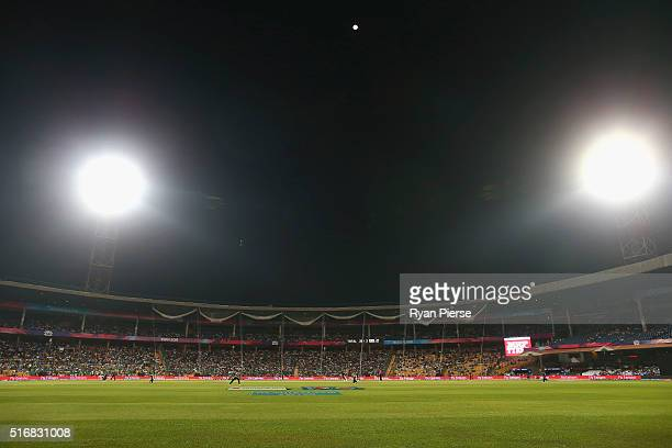 A general view during the ICC World Twenty20 India 2016 Super 10s Group 2 match between Australia and Bangladesh at M Chinnaswamy Stadium on March 21...