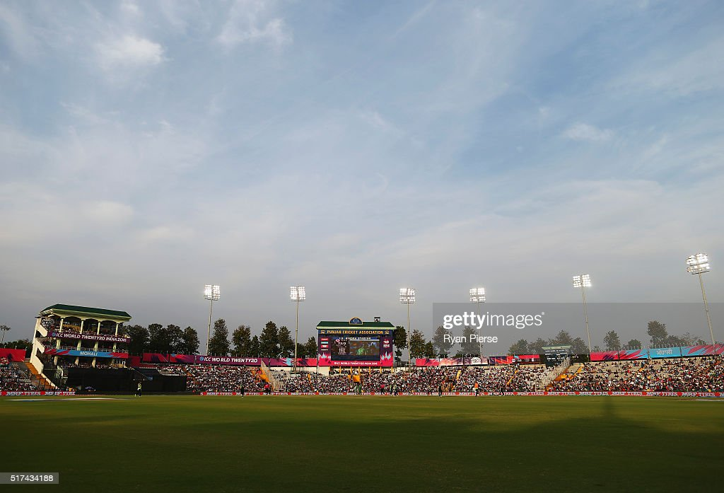A general view during the ICC WT20 India Group 2 match between Pakistan and Australia at IS Bindra Stadium on March 25 2016 in Mohali India