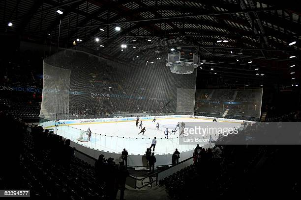 General view during the IIHF Champions Hockey League match between SC Bern and Espoo Blues at the PostFinance Arena on October 22, 2008 in Berne,...