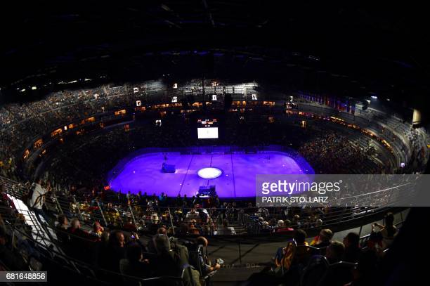 General view during the IIHF Ice Hockey World Championships first round match between Slovakia and Germany in Cologne western Germany on May 10 2017...