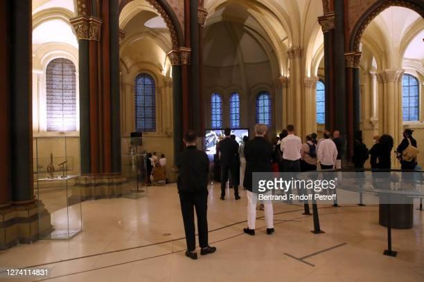 "General view during the ""Il Medico Della Peste"" Franck Sorbier Haute Couture Pieces Uniques AW 2020/21 Maitre d'art Collection : Screening &..."