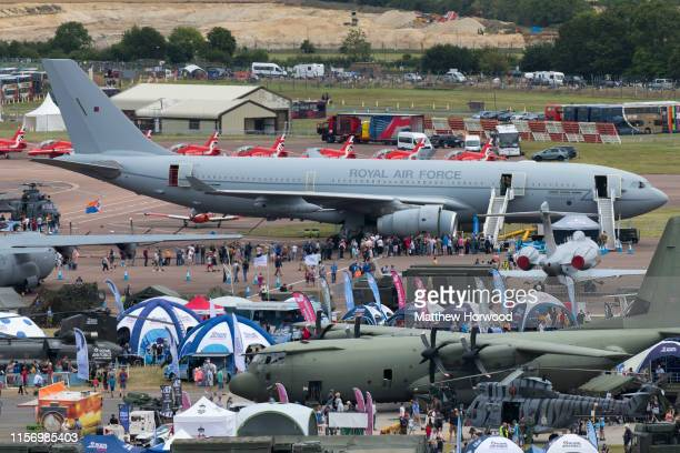 A general view during the International Air Tattoo at RAF Fairford on July 21 2019 in Fairford England The Royal International Air Tattoo is the...