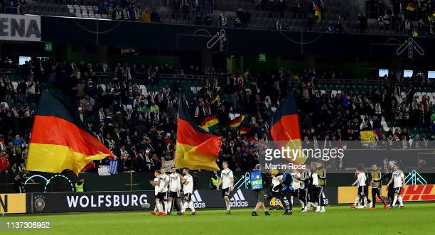 A general view during the International Friendly match between Germany and Serbia at Volkswagen Arena on March 20 2019 in Wolfsburg Germany