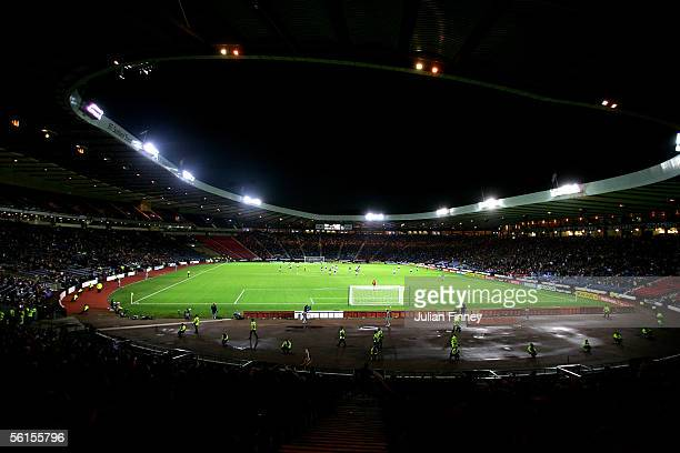 A general view during the international friendly match between Scotland and USA at Hampden Park on November 12 2005 in Glasgow Scotland