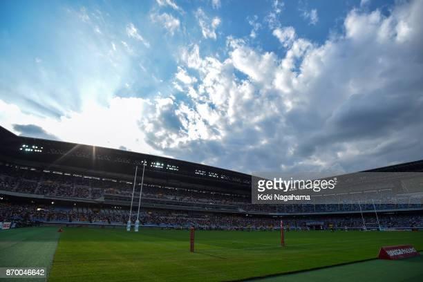 A general view during the international match between Japan and Australia at Nissan Stadium on November 4 2017 in Yokohama Kanagawa Japan