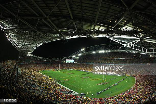 A general view during the International Test match between the Australian Wallabies and British Irish Lions at ANZ Stadium on July 6 2013 in Sydney...