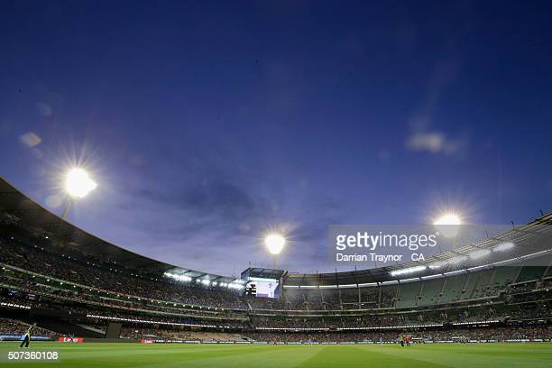 A general view during the International Twenty20 match between Australia and India at Melbourne Cricket Ground on January 29 2016 in Melbourne...