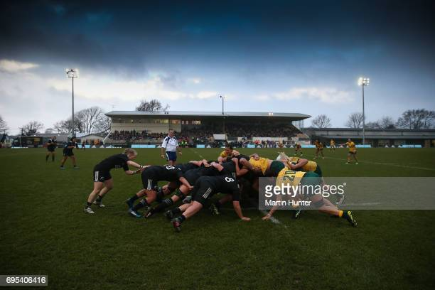 General view during the International Women's Test match between the New Zealand Silver Ferns and the Australian Wallaroos at Rugby Park on June 13...