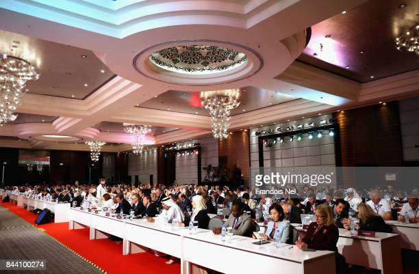 A general view during the IPC General Assembly and Conference 2017 at Abu Dhabi National Exhibition Centre on September 8 2017 in Abu Dhabi United...