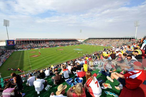 A general view during the IRB Sevens Series semifinal match between South Africa and Fiji at the Sevens Stadium on November 29 2008 in Dubai