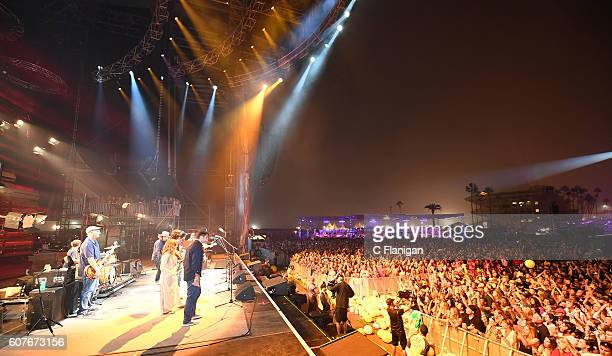 A general view during the Jack Johnson set on the Sunset Cliffs Stage during the 2016 KAABOO Del Mar at the Del Mar Racetrack on September 18 2016 in...