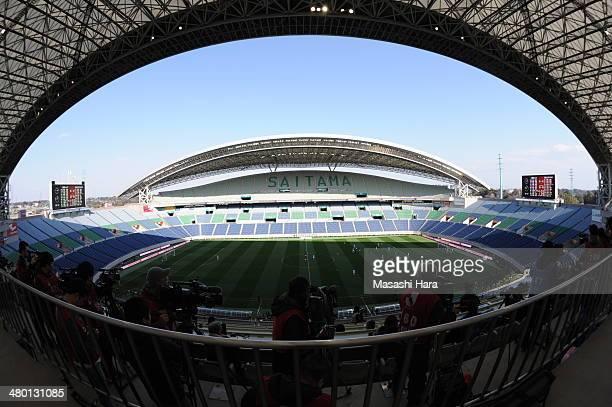 General view during the JLeague match between Urawa Red Diamonds and Shimizu SPulse at Saitama Stadium on March 23 2014 in Saitama Japan The match...