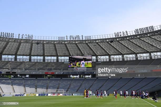 General view during the J.League Meiji Yasuda J1 match between FC Tokyo and Yokohama F.Marinos at Ajinomoto Stadium on May 01, 2021 in Chofu, Tokyo,...