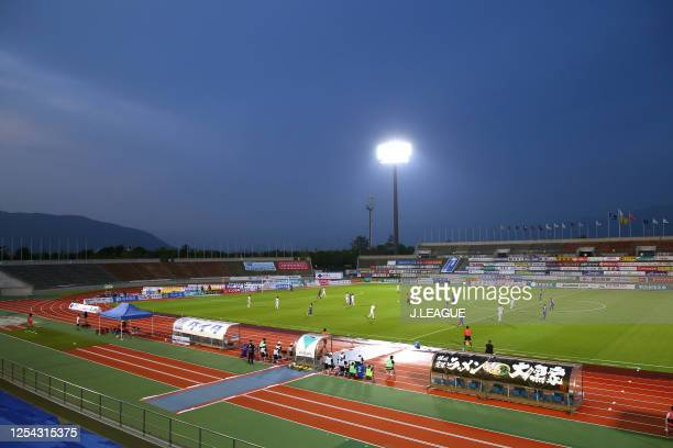 General view during the J.League Meiji Yasuda J2 match between Ventforet Kofu and Albirex Niigata at the Yamanashi Chuo Bank Stadium on June 27, 2020...