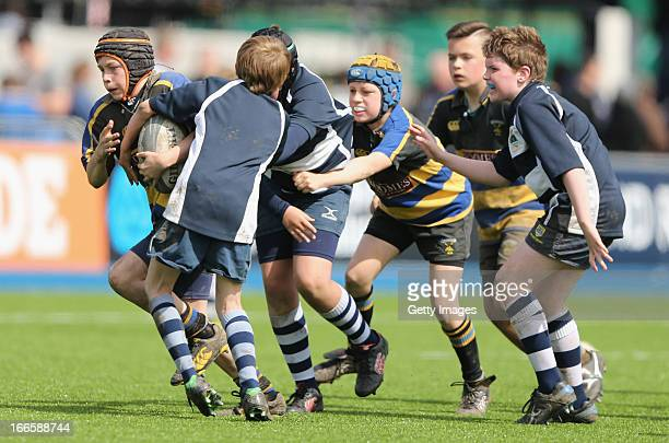 General view during the junior competition for players aged 10-12, ahead of the Aviva Premiership match between Saracens and Worcester Warriors at...
