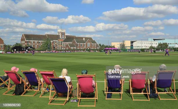 A general view during the Kia Super League match between Loughborough Lightning and Surrey Stars at Haslegrave Ground on August 2 2018 in...
